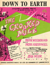 DOWN TO EARTH Music Sheet-1959-WILDEBLOOD/GREENWELL-CROOKED MILE-British Edition