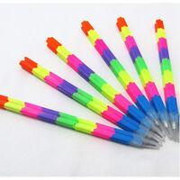 Funny Building Block Colorful Stacker Swap Pencils Plastic Kids Multi-color ASE