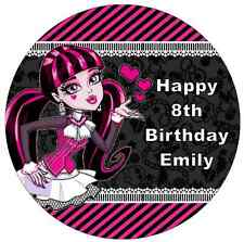"""Monster High Draculaura Personalised Cake Topper 7.5"""" Edible Wafer Paper"""