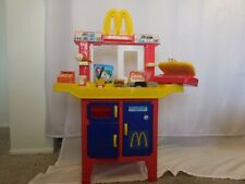 Mcdonalds Drive Thru Playset Kitchen Cash Register Toy Hamburger Vtg Rare