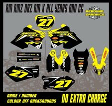 Rebound Graphics Kit to fit: Suzuki RM RMZ 85 125 250 450 models all years