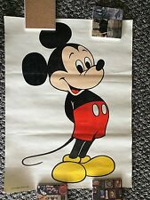 """Walt Disney Productions Mickey Mouse Vintage Poster 18"""" X 24"""""""