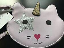 Luv Betsey Johnson Unicorn Cat Wristlet/Coin Purse/Wallet Lavender RARE NWT