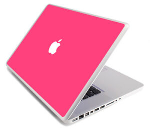 HOT PINK Vinyl Lid Skin Cover Decal fits Apple MacBook Pro 15 A1268 Laptop