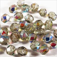 Facettes de Bohème 4mm Black Diamond AB Lot de 50 perles