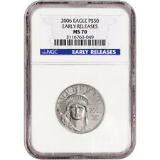 2006 American Platinum Eagle - 1/2 oz - $50 - NGC MS70 - Early Releases