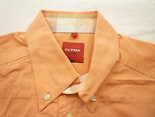 E8029 Olymp Novum Businesshemd Kurzarm L orange Unifarben Neuwertig
