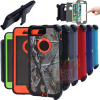 For iPhone 8/8 Plus Rugged Armed Shockproof With Clip Case Cover