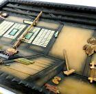 Vintage Folk Art 3D Hand Carved Wood Japanese Scene Shadow Box Diorama 16 x 12.5