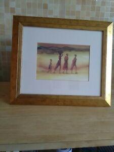 """Patrick Bradfield """" The Family"""" Framed circa 2001"""