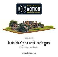 Bolt Action British Army Six Pounder AT Gun Warlord Games 28mm WW2