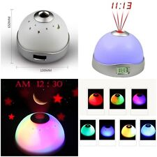 Home Sleeping Room Sky Star Night Light Projector Lamp Bedroom Alarm Clock