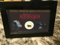 Star Wars Prop Screen Used piece of Death Star + C.O.A and 4x6 display card ROTJ