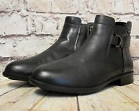 Womens Clarks Artisan Black Leather Low Heel Zip Up Ankle Boots UK 5.5 EUR 39