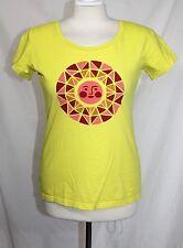 Patagonia - Women's M - Yellow Geometric Sun 100% Organic Cotton T-Shirt