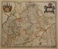 """Orig. teilkol. Kupferstichkarte Mercator """"Wirtenberg Ducatus"""" um 1650 sf"""