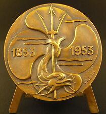 Médaille Compagnie des bateaux à vapeur du Nord  steamships R B Baron 59mm medal