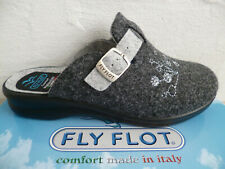 Fly Flot Ladies Slippers Mules House Shoes Slippers Grey