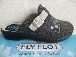 Fly Flot Femmes Chausson Chaussons Pantoufles Mules Gris Nouveau
