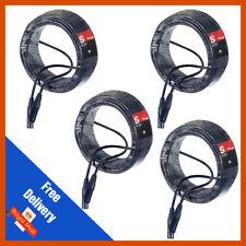 4 x Stagg 20M Black DMX Lighting Cable Lead XLR Mic Quality Band DJ Disco