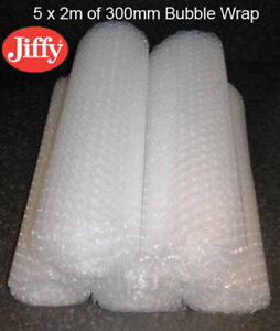 20m x 300mm Bubble Wrap (10 x 2m rolls) JIFFY Small Bubble Protective Packaging