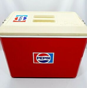 Vintage Pepsi Cooler Esky Nylex Chilla26 Red/White With Lid Retro - Rare Find