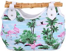 Küstenluder KACIE Flamingo 50s Tiki Bamboo Retro TASCHE Rockabilly