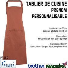 Tablier Bavette 'Couleur' Premier PR150 Café Bar Restaurant Cuisine Barbecue
