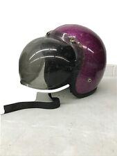 DD-9611Blue Helmet Metal Flake Medium 1966 Open Face Japan AMA Shoei,Buco Harley