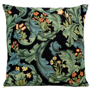 18x18 William Morris Flowers Tapestry Pillow, Bed Sofa Couch Decor