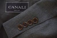 Canali Brown Label Silk Blend Brown Black Hopsack Sport Coat Jacket Sz 40R