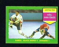 NMT 1973 Topps #196 NHL Stanley Cup Semi-finals.