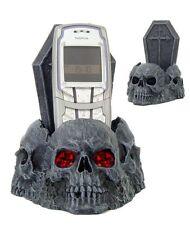 Handyhalter Halter für Fernbedienungen Three Skulls Deko Figur