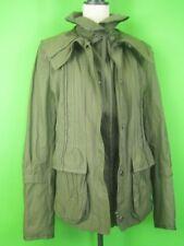 ELIE TAHARI Khaki Cotton Blend NEW Military Style Long Sport Parka Jacket L