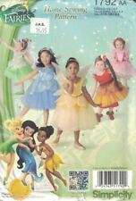 Simplicity Disney Fairies Costume Pattern 5 Designs #1792 Size 1/2 - 3 Toddler's