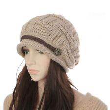 1Pcs Hot Sales Woman Winter Bonnet Hat Female Knitted Crochet Casual Cap Beanies
