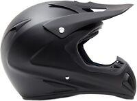 Typhoon Adult Dirt Bike Helmet ATV ORV Motocross Matte Black DOT Motorcycle UTV