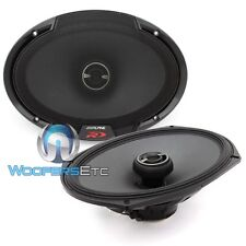 "ALPINE SPR-69 PRO 6""X9"" CAR 2-WAY SILK DOME TWEETERS TYPE-R COAXIAL SPEAKERS NEW"