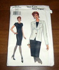 Very Easy Very Vogue Pattern 8816.Jacket & Dress Size 6-8-10 Misses