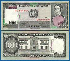 BOLIVIEN / BOLIVIA  1000 Pesos 1982 UNC  P.167