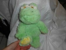 Animal Adventure plush Green Yellow Dot Frog Baby Lovey 12'