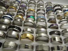 Wholesale 100 pcs high quality Fashion Pretty mix Stainless Steel Rings