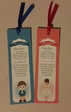 Personalised FirstCommuion Boy Girl Bookmarks (with brown, blonde or red hair)