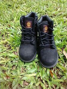 "Toddler Kids TIMBERLAND 6"" Basic Boots Black (TB010810) Size 8"