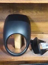 Cupolino moto nero opaco harley  sportster 883 1200 completo di bulloneria