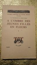 PROUST Marcel A l'Ombre des jeunes filles en fleurs. filigrané à la gerbe nté