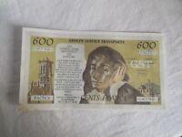 BILLET PUBLICITAIRE 600 FRANCS PASCAL ANNEES 80