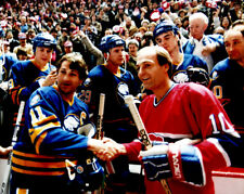 Guy Lafleur, Gilbert Perrault Montreal Canadiens Buffalo Sabers 8x10 Photo