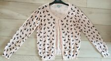 SIZE 16 ATMOSPHERE LIGHTWEIGHT CARDIGAN,PEACH/BLACK BUTTERFLY P/T.LG SLV,BTS,VGC