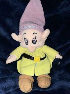 "Disney Store Dopey Plush Snow White Seven Dwarfs Stuffed Animal 8"" Stuffed"